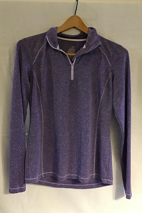 Women's Long Sleeve Athletic Top, Purple, Size: Small (VC78)