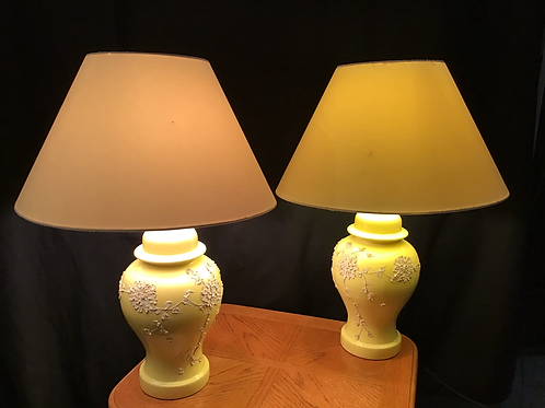 Raised Floral Patterned Lamps