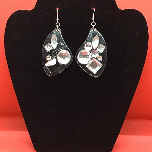 Pierced Crystal-like Dangled Earrings