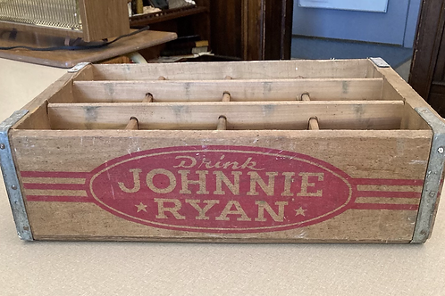 Johnnie Ryan Vintage Soda Wooden Crate Box