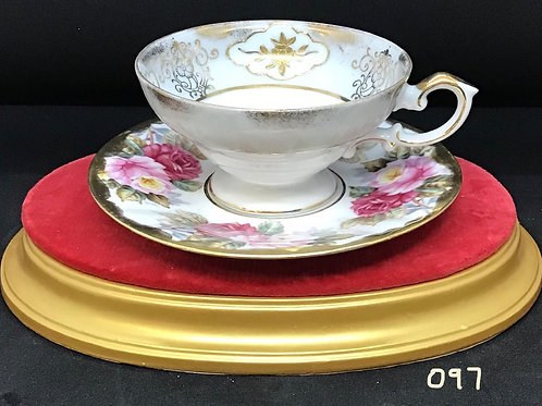 Shafford Tea Cup and Saucer, Japan (097)