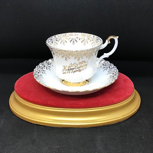 Happy Birthday Tea cup and Saucer (C87)