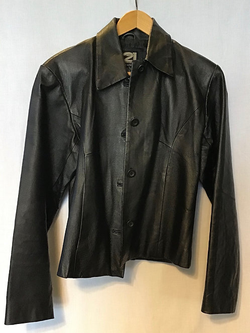 Rue 21 Women's Leather Jacket, Size Medium (VC38)
