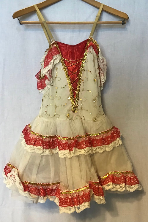 Senorita Dance Costume, Size: Child Large