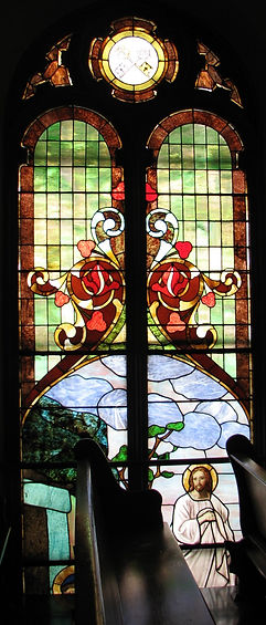East facing choir loft window