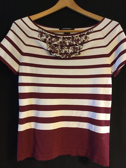 Ellen Tracy Short Sleeve Top, Size: Small