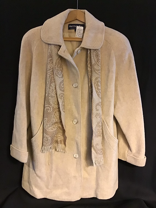 Winter Coat by Herman Kay, Off White, Size: 10 (VC67)