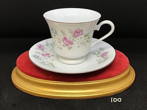 Rose Floral Tea Cup and Saucer (100)