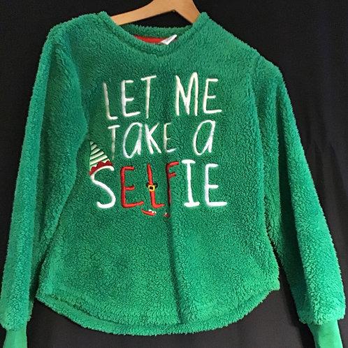 "Christmas Sweater ""Let Me Take a sELFie"", Size: XS (VC75)"