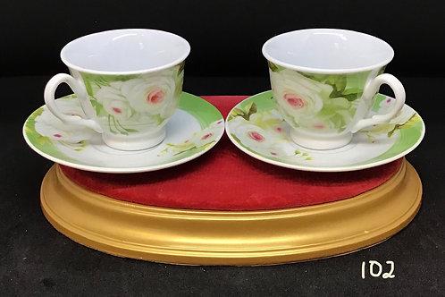 Love Bridge Tea Cups and Saucers (102)
