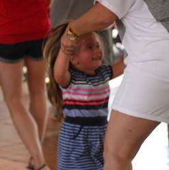 Never too young to learn to polka!