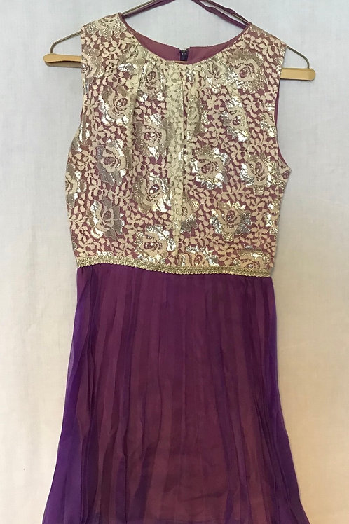 Ballroom Dance Costume, Purple, Size: Girl's Large