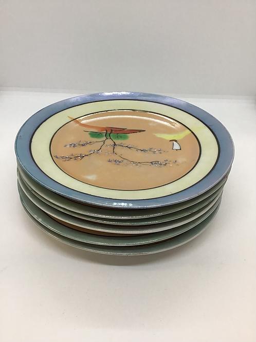 Decorative Japanese Dessert Plates (#003)