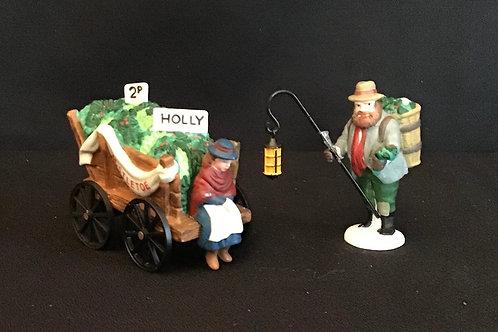 Dept 56 (#015) Chelsea Market Mistletoe Monger & Cart