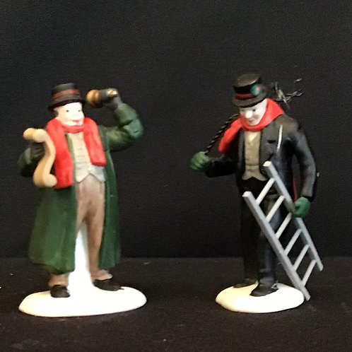 Dept 56 (#028) Town Crier & Chimney Sweep