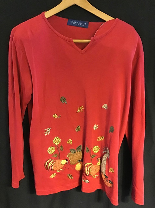 Thanksgiving Sweater by Karen Scott, Size: Medium (VC70)