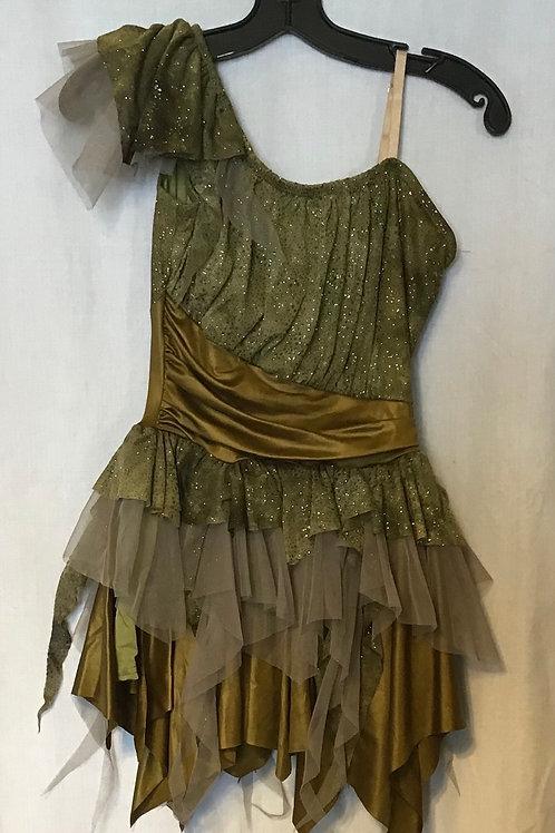 Dance Costume - Olive, Size: Child S-M