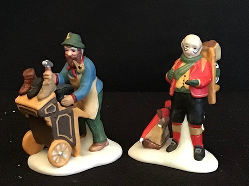 Department 56: Cobbler & Clock Peddler