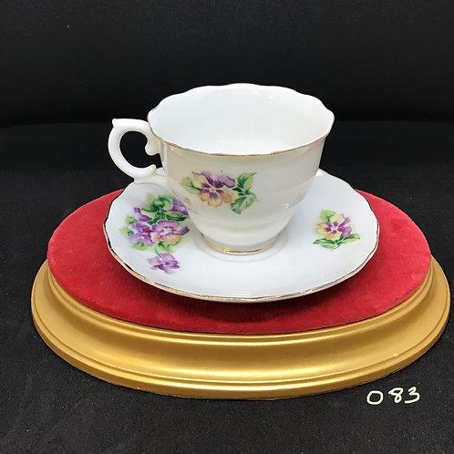 Royal Seally China Tea Cup and Saucer, Japan (083)