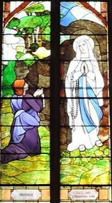 Our Lady of the Lourdes with St. Bernade