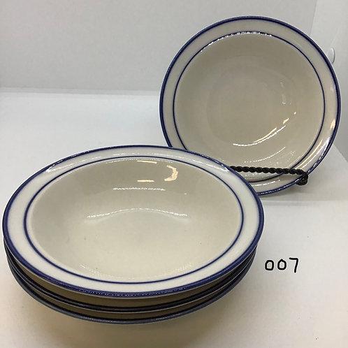 """Dessert Bowls, Elegance II - Japan """"Mariner Blue"""" (007)"""
