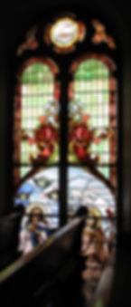 West facing choir loft window.
