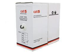 CAT5 1000ft Negro Exterior
