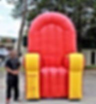 College is about making memories and the goofier the moment the better.  And there are not many things more goofier than jumping up into a Big Red Chair that makes you look like you're just a little kid.  Even the biggest guy will look like a small child sitting in this chair. Add a costume from the wardrode provided (hats, boas, leis, beads, sunglasses, etc.) and the moment gets even sillier.  The more dramatic or crazier the pose the better!!  And voila you just made a priceless memory.