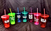 "Laugh Out Loud Tumblers are a huge hit on college campuses everywhere.  Every student needs some kind of ""glass"" to drink from and what better ""glass"" to give them than a colorful acrylic double-walled tumbler that they get to personalize with a LOL saying.    The 100+ LOL saying options are funny and inspirational with a saying to fit every type of personality.  And the pre-cut sayings speed up the production."