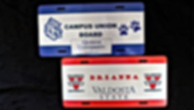 School Spirit Personalized License Plates – METAL License Plates with Your School Logos and Your School Colors.
