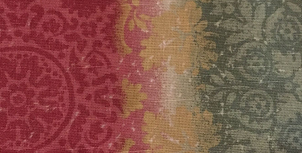Raspberry, Yellow, and Green Stripe - Damask