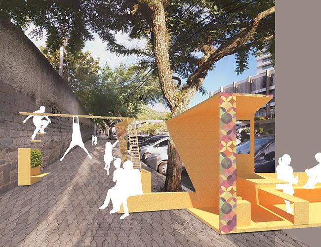 rua bulcão viana intervenção urbana mobiliario