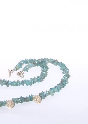 apatite garland necklace
