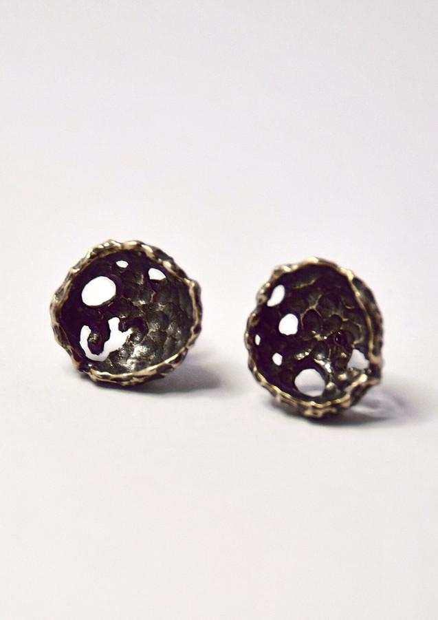 perifora oxidised stud earrings