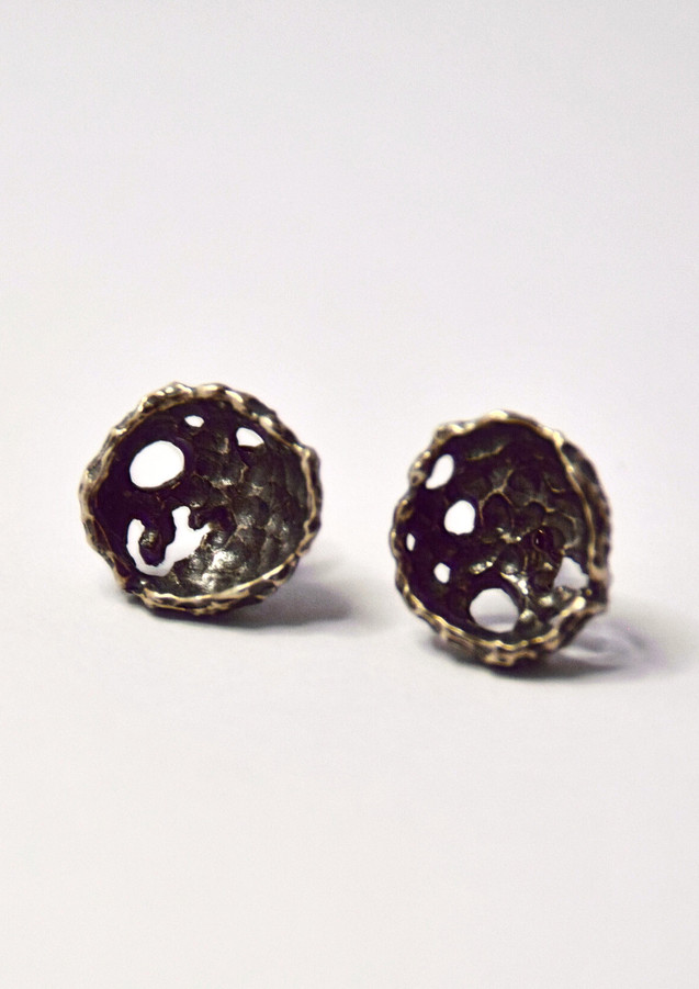 perifora oxidised stud earrings