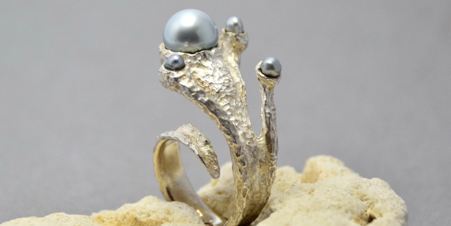 sealife metallic silver/blue