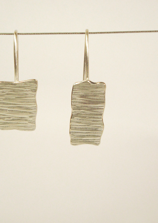 tectonic asymmetric hook earrings