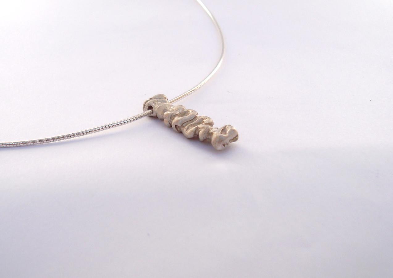 long coral stem pendant