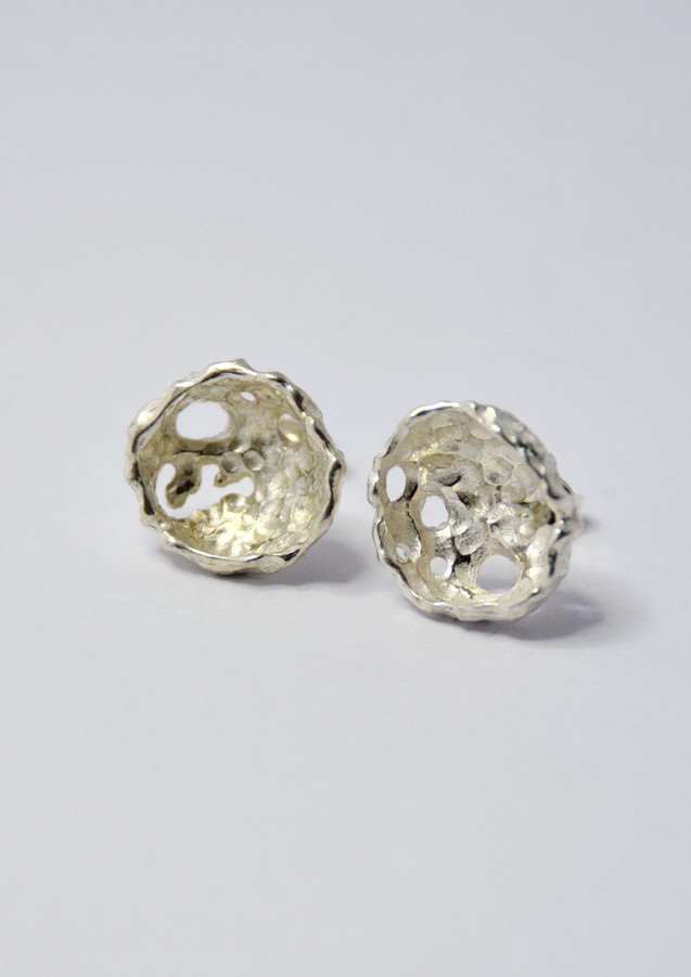 porifera stud earrings