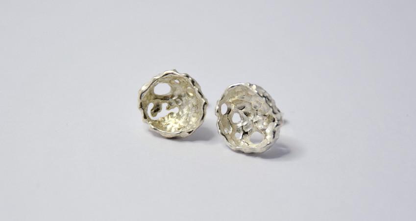 porifera stud earrings