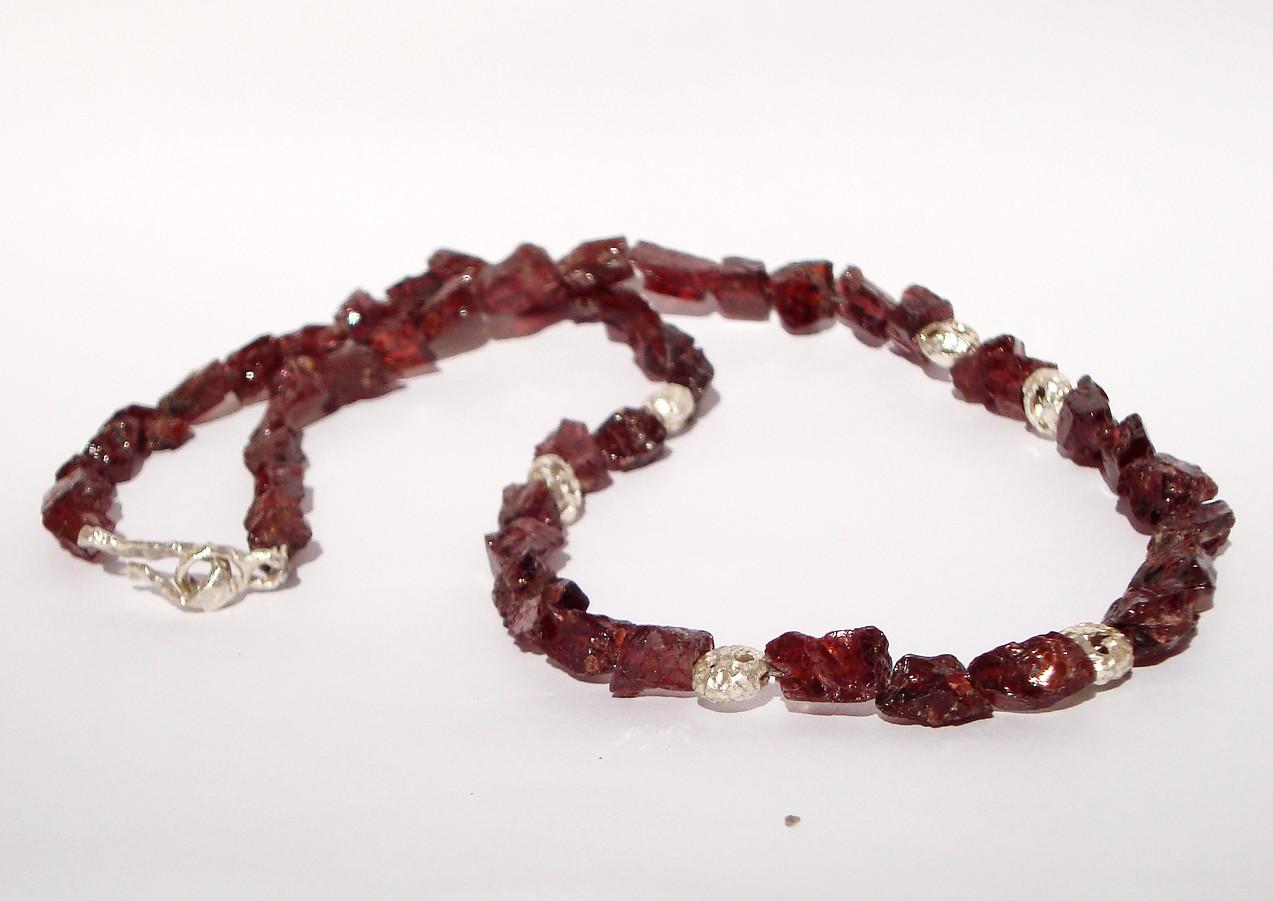 garnet coral garland necklace
