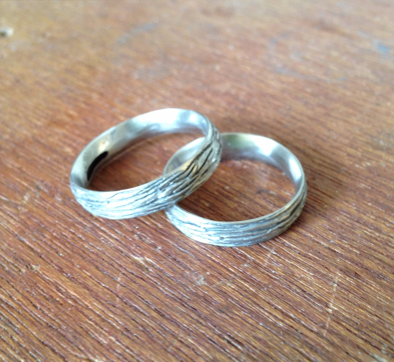 Textured Wedding Bands