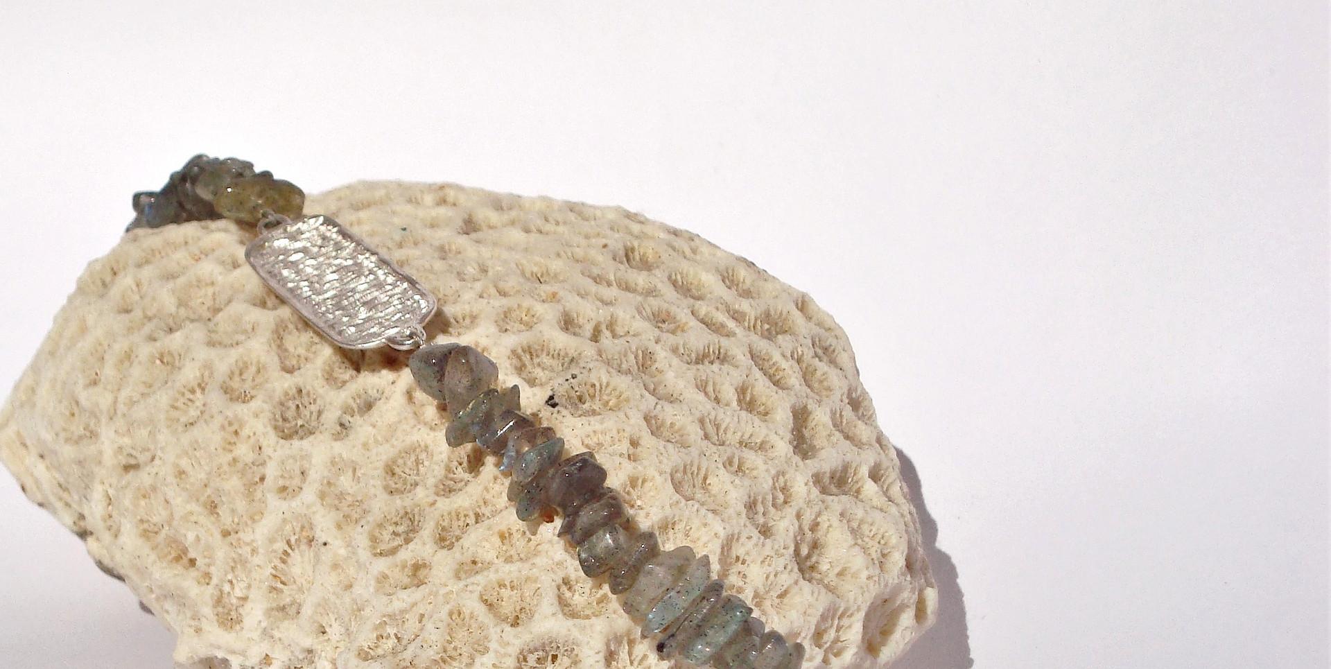 ovires identity bracelet with labradorite