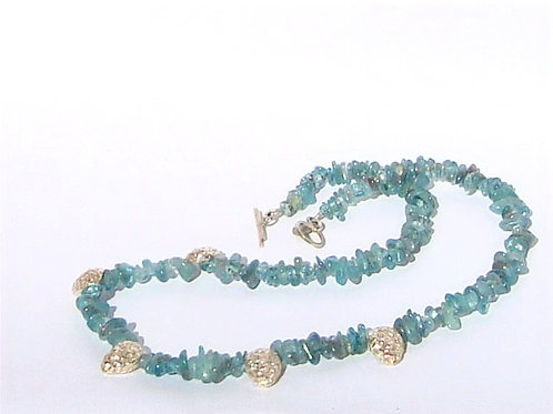 apatite garland necklace