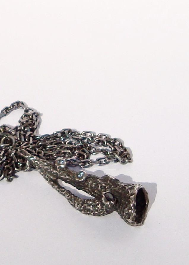 aplysina sapphire and aquamarine pendant