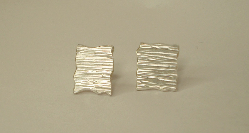 tectonic square plaque earrings