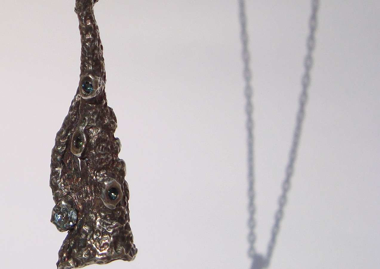 aplysina topaz and indicolite tourmaline pendant