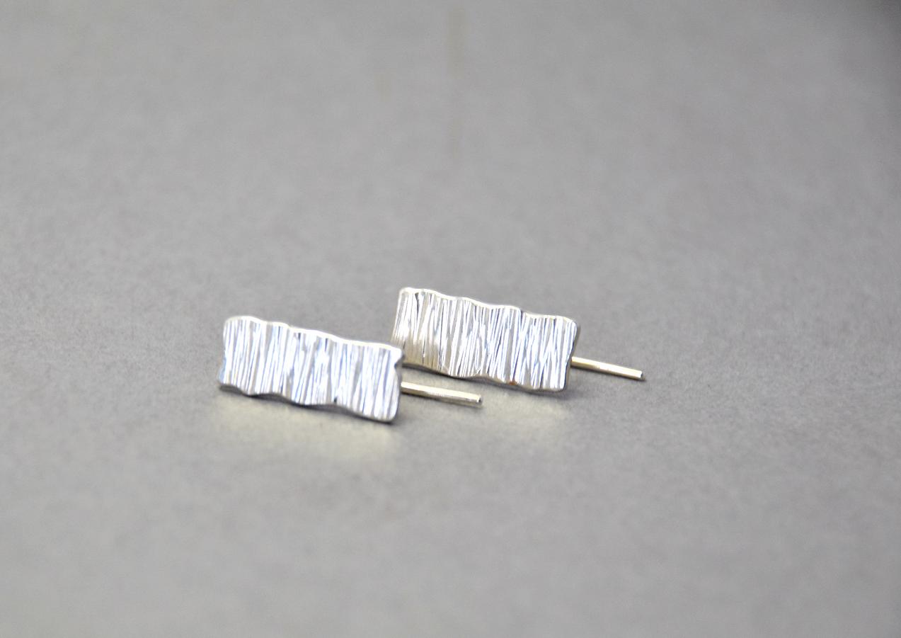 tectonic rectangular microplate hook earrings