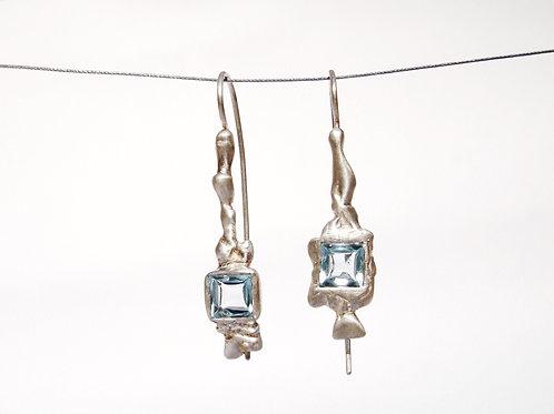 topaz embrace drop earrings
