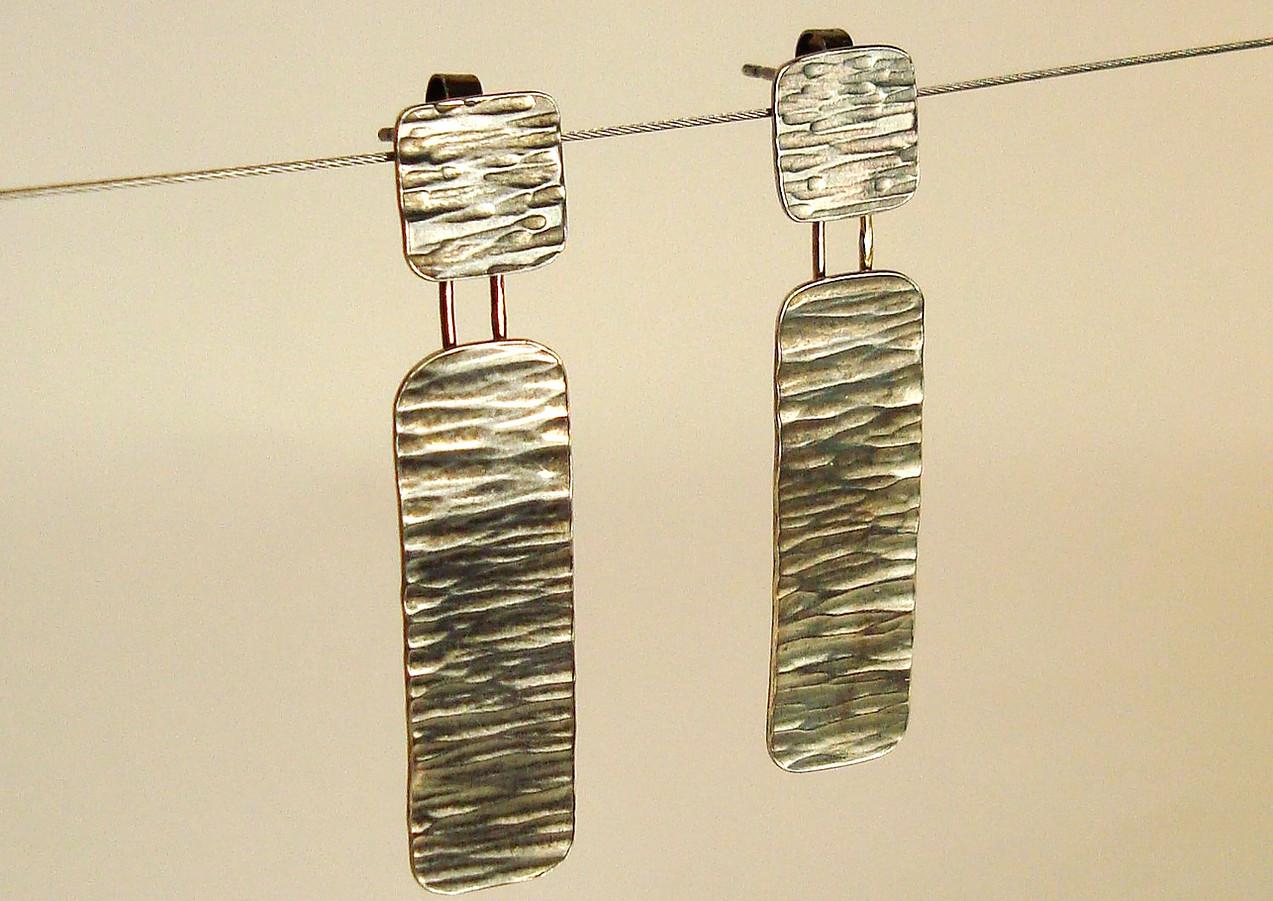 tectonic drop earrings